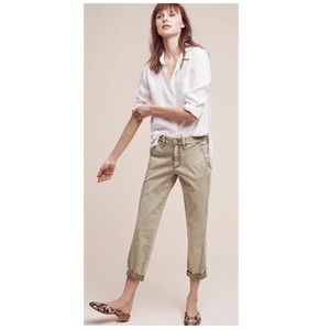 Chino by Anthropologie Relaxed Green Chino Pants